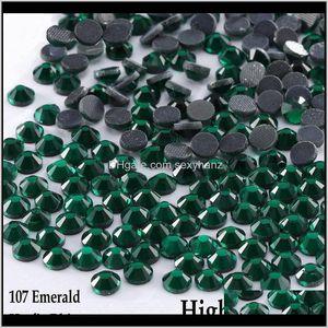 Sewing Notions Tools Apparel Drop Delivery 2021 Shinning All Sizes Emerald Dmc Fix Rhinestone Flatback Glass Crystal Diy Clothing Bag Garment