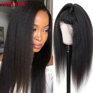 Lace Wigs Kinky Straight Human Hair Front With Baby Malaysian 13x4 Pre Plucked 150% Density Remy
