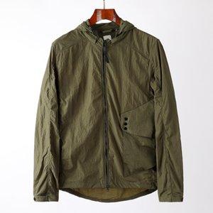 Весна осень мужская куртка дизайнерские пальто вагущина ветровка с капюшоном молния водонепроницаемый мода с капюшоном куртки очки пальто мужчин одежда