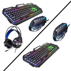 Клавиатуры проводной игровой клавиатуры и мыши Combo с мультимедийными ключами для Windows PC