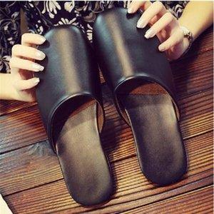 women sandals Hedging leather shoes soft slippers slides black red pink flip flops womens beach el sandal size 35-40 0KRG