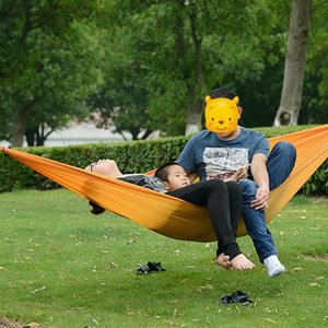 Men Women Folding Portable Nylon sleeping bag Hammock Hanging Parachute Bed 2 Persons Travel Camping Hiking Outdoor Picnic mat
