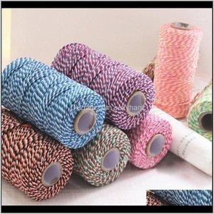 Yarn 100Yard Natural Burlap Cotton Cords Rope For Home Decor Handmade Christmas Packing Craft Diy Gift Scrapbooking Wrap1 Hurjv Unrsx