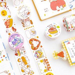 Kawaii Decorative Adhesive Tapes Masking Washi Tape Cute Cartoon Stickers Scrapbooking Sticker Label Japanese Stationery