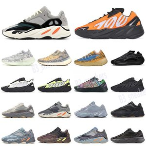 Adidas Yeezy Boost 700 2021 최고 품질 700 V2 캐주얼 신발 관성 탄소 테프라 남성 여성 스포츠 솔리드 Gey Teal 아날로그 트레이너 운동화 EUR 36-45 BI31