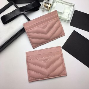 2020 new fashion Card Holders caviar woman mini wallet purse color genuine leather Pebble texture luxury Black wallet with box