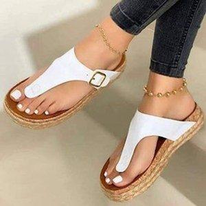 Летние женские сандалии Бритасская мода Flip Plops Cork Trend Мужчины на открытом воздухе тапочки 2021 размер 35-43