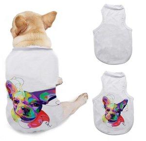 التسامي فارغة الكلب الملابس الحيوانات الأليفة diy تي شيرت 3 أحجام أكمام الكلاب جرو سترة الملابس لوازم YL540