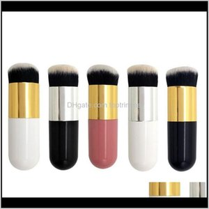 Other Hair Cares Chubby Pier Foundation 5Color Flat Makeup Brushes Professional Cosmetic Brush Br5C8 Ecuk5