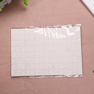 Sublimation Puzzle A5 Size DIY Products Sublimations Blanks Puzzles White Jigsaw 80pcs Heat Printing Transfer Handmade Gift DHB6695