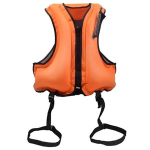 Inflatable Vest Snorkel Vests Jacket Orange Diving Surfing Adults Outdoor Water Sports Life Saving Snorkeling Floating Device & Buoy
