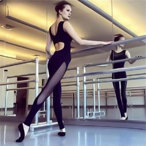 Gym Clothing Women Yoga Sportswear One Piece Mesh Patchwork Backless Sexy Tracksuit For Female Workout Black Slim Fitness Jumpsuit