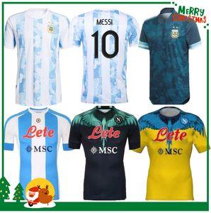 2020 2021 Argentina Messi Maradona Home Soccer Jersey Retro 1978 1986 1981 87 88 Nápoles Camisa de Fútbol Napoli
