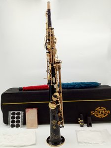 France Henri Super Action SS803 Soprano Saxophone Gold Full flower B Tune Model Sax with Reeds Case Mouthpiece Professional