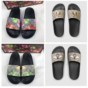 Classical Men slides Women Sandals Shoes Slippers Pearl Snake Print Slide 2021 fashion Summer Wide Flat Lady Sandal Slipper Dust Bag 35-45