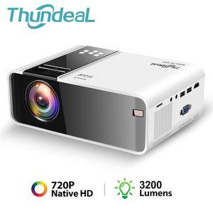 Thundeal TD90 родной 720P проектор Android Wi-Fi смартфон 3D видео кино вечеринка мини-прояктор портативный домашний кинотеатр 210609