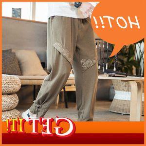 Manual Vintage 2020 homens Broek Cato Linho Casual Calças Jogging Calças Masculinas Tamanho Big Streetwear 5xl