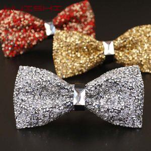 Luxury Diamond Black Color Bow Tie For Men Bowtie Rhinestone Collar Tie Crystal Chaton Super Cool Diamond Wedding Bow tie