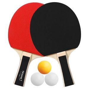 테이블 테니스 Raquets Pong Paddles Rackets 2 박쥐 긴 손잡이 라켓 훈련 액세서리 라켓 번들 키트 3 공
