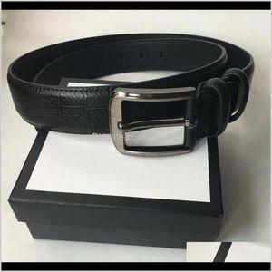 Belts & Aessories Aessories95-120Cm Mens And Fashion Classic Designers Luxury Womens Brand Jeans S Belt Gold Button Letter Bandwidth Drop De