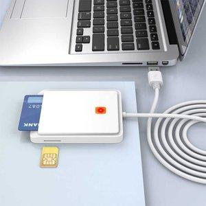 USB SIM Smart Card Reader Memory for ID Bank SIM CAC ID Card Cloner Connector Adapter for Windows XP Windows 7 8 8.1 10