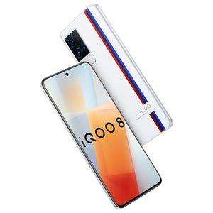 Original Vivo IQOO 8 5G Mobile Phone 12GB RAM 256GB ROM Snapdragon 888 Octa Core 48MP AR OTG NFC Android 6.56