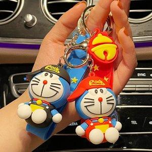 عبقور مقنع جلجل اليابانية روبوت القط سلسلة المفاتيح لطيف الأزياء الرسوم المتحركة قلادة هدية صغيرة