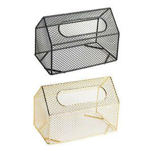 Tissue Boxes & Napkins Living Room Storage Organizer Kitchen Home Decor Hollowed Out Box Office Napkin Holder Iron Art Paper Case