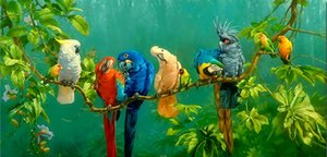 Parrot Bird Huge Oil Painting On Canvas Home Decor Handpainted HD-Print Wall Art Pictures Customization is acceptable 21051321