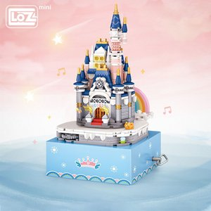 LOZ Mini Building Princess Castle Eight Music Box Rotating Music Box Small Grain Building Wood Toy Gift Model Puzzle Toy R0410