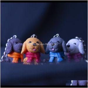 Cartoon Pet Scarve Dog Figure Keychain Key Rings Toy Cute Deisnger Bag Hangs Will And Sandy Fashion Jewelry Bqzhm Tmwh1