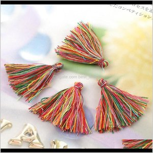 Arts And Crafts 30 3Cm Colorful Random Cotton Tassel Charms Tassels Silk Satin For Earring Jewelry Making Diy Craft Materials H Sqcata Hxnim
