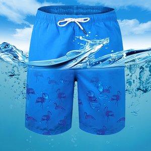 Stock em nós homens swimwear shorts com laço cintura respirável nadar troncos shorts boxers para homens mk