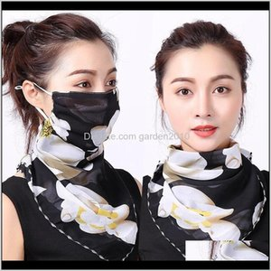 Designer Masks Outdoor Cycling Windproof Women Multifunction Silk Scarves Face Mask Dustproof Breathable Sunshade Neck Protector Scarf Nlxvj