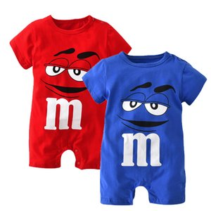 Summer Baby Boy Clothes Newborn Blue and Red Short Sleeve Clothing Cartoon Printing Jumpsuit Infant Romper Toddler Outfits