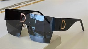 fashion design sunglasses 2233 square oversize frameless lens latest catwalk style trendy and versatile uv400 protective glasses top quality