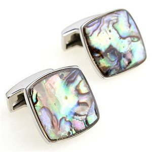 Cufflinks Retail Shell series male colorful pearl sallei square cufflinks nail sleeve 156152 + gift box