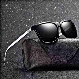 Gafas de sol Polarizadas UV400 Sunglasse Hombres Dazzle Driver CLÁSICO CLÁSICO Retro Diseñador de marca Luz Flexible Vaso de sol Oculos de Sol