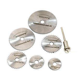 6 PCS HSS Metal Sega a sega a dischi a dischi a dischi a dischi tagliato fuori trapano strumenti rotanti tagli di precisione fini per piccoli lavori di taglio