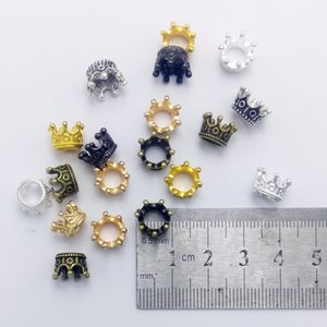 Mibrow 50pcs lot 8 Colors Vintage Crown Charm Beads fit Bracelet Jewelry Crown Beads For DIY Jewelry Making Findings 1679 Q2