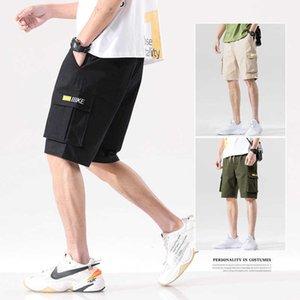 Мульти мужская сумка оснащена шорты хлопчатобумажные капризы свободные большие повседневные брюки летние мужские