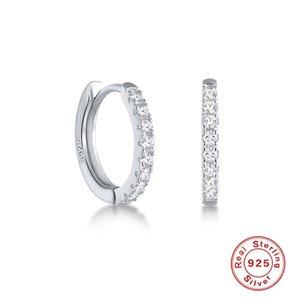 Aide 925 Ayar Gümüş Takı Zirkon Kadın Hoop Küpe Doğum Günü için Sevgililer Günü Hediyesi Pendientes Cruz Güzel Küpe 890 Q2
