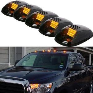 9-LED Car Cab Roof Marker Light For Truck SUV DC 12V Black Smoked Lens Clearance LED Lamps Doom Lights