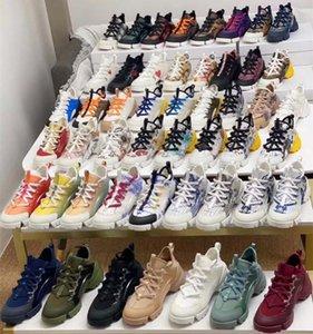 Avec boîte Femmes Men Connect Sneaker Shoe Grosgrain Ruban Ruban Rétro Sneakfas Dames Fleurs Multicolor Néoprène Cuir Néoprène Fête Chaussures de mariage Chaussures