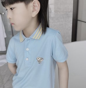 2021 Kids Boys Girls Polo Shirt Summer Fashion Children Boys Lapel Solid Color Cotton Breathable Tees Toddler Clothing tops