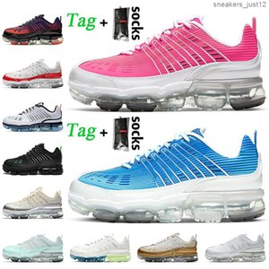 Yeni Moda TN Kadın Erkek Koşu Ayakkabıları Pembe Mavi Beyaz Siyah Yanardöner 360 Artı Metalik Altın Ladin Aura Eğitmenler Sneakers