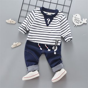 Clothes Private label jeans suit stripe unlined upper garment of cotton Kores edition children's clothing a undertakes 134 Q2