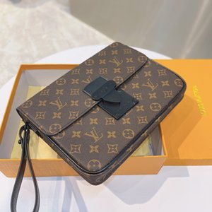 2021 French brand designer men's fashion briefcase high end atmospheric business special size 27cm*20cm