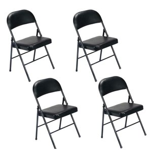 Living Room Furniture Home & Garden Drop Delivery 2021 Comfort Set Of 4 Folding Chairs Fabric Upholstered Padded Seat Metal Frame Us Z17Xm