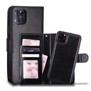 Leather Wallet Case Magnetic 2in1 Detachable Cover Cases For iPhone 12 11 Pro xs Max XR X 7 8 Samsung Note10 S10 Plus